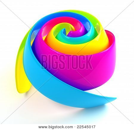 Colorful Rose. Include Clipping Path