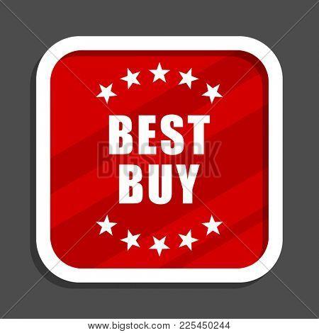 Best buy icon. Flat design square internet banner.