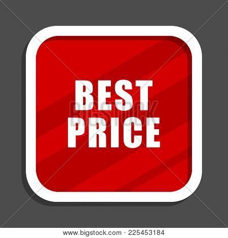 Best price icon. Flat design square internet banner.