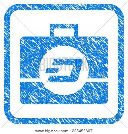 Dash Business Case Rubber Seal Stamp Watermark. Icon Vector Symbol With Grunge Design And Unclean Te