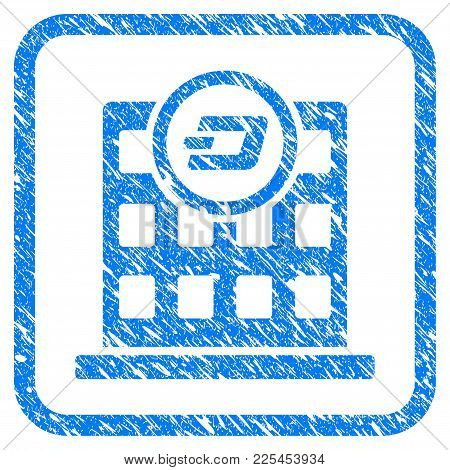 Dash Corporation Building Rubber Seal Stamp Imitation. Icon Vector Symbol With Grunge Design And Unc
