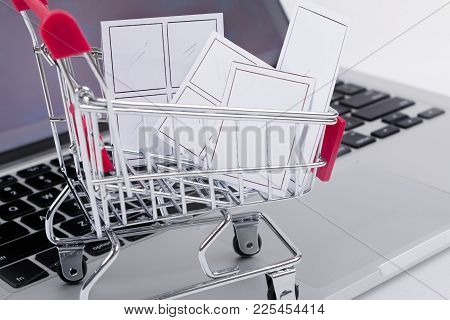 Online Window Shopping Concept.