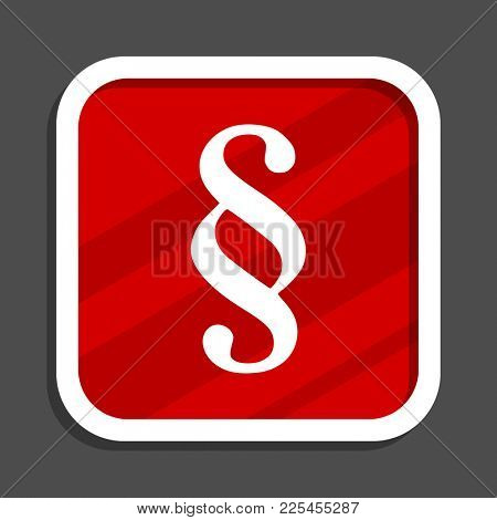 Paragraph icon. Flat design square internet banner.