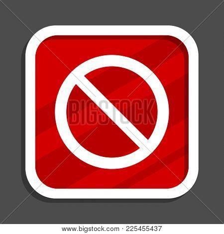 Access denied icon. Flat design square internet banner.