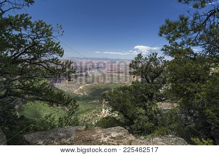 View Of The Grand Canyon From Locust Point On The Edge Of The Kaibab Plateau