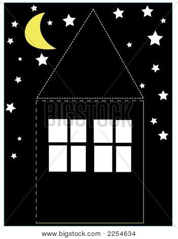 House With The Night Sky