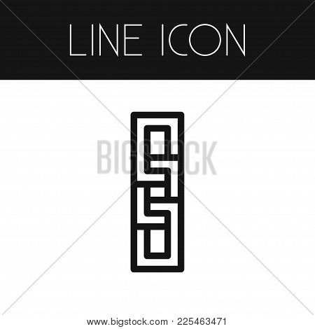 Isolated Chain Icon Line. Attach Vector Element Can Be Used For Unlink, Link, Connection Design Conc