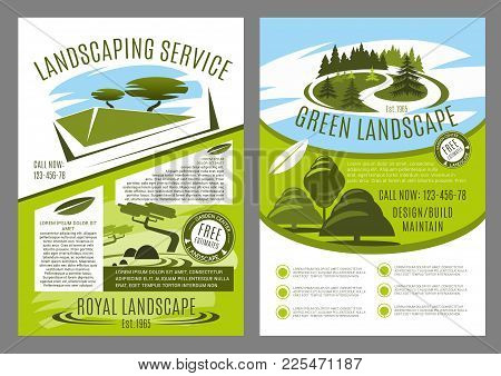Landscape Service Company Business Poster For Landscaping And Gardening Template. Landscape Architec