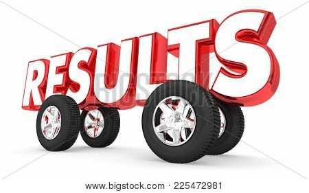 Results Car Automobile Race Good Outcome 3d Illustration