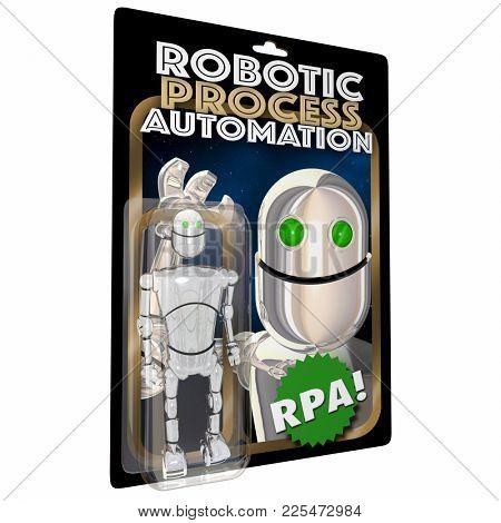 Robotic Process Automation RPA Action Figure 3d Illustration