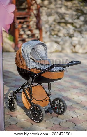 Baby Stroller Child  Carriage, Buggy   Running,  Outdoor,