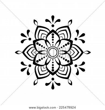 Mandala Stock Vector Illustration, Pattern For Desktop