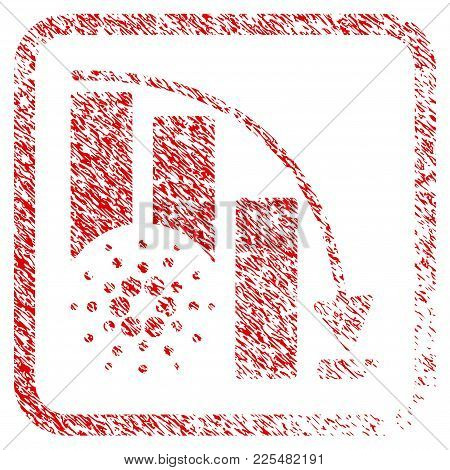 Cardano Epic Fail Chart Rubber Seal Stamp Imitation. Icon Vector Symbol With Grunge Design And Corro