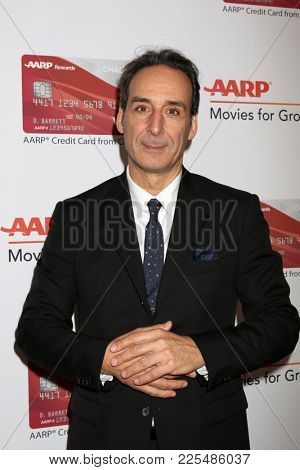 LOS ANGELES - JAN 8:  Alexandre Desplat at the AARP's 17th Annual Movies For Grownups Awards at Beverly Wilshire Hotel on January 8, 2018 in Beverly Hills, CA