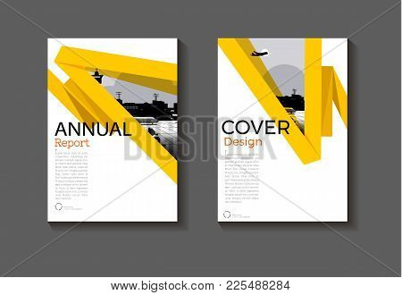 Abstract  Layout Yellow Background Modern Cover Design Modern Book Cover Brochure Cover  Template,an
