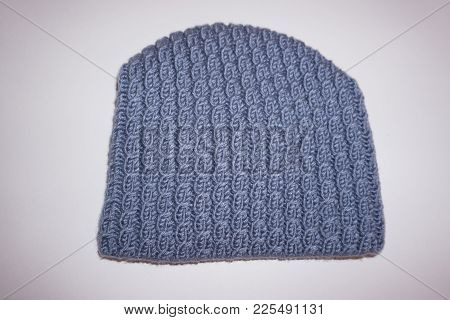Hat Isolated On White Background Knitted Hat