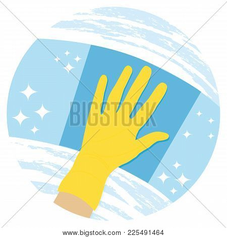 Cleaning Windows. Housekeeping Or Cleaning Windows Service Vector Icon.