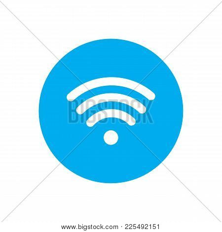 Wireless Wifi Or Sign For Remote Internet Access Icon Vector On White Background, Flat Style For Gra