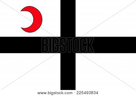 Flag Of Attendorn Is A German Town In The Olpe District In North Rhine-westphalia, Germany. Vector I