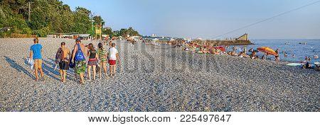 Living In The Resort City Of Sochi, I Often Go To The Beach. I Like To Swim, Sunbathe, Sometimes I P