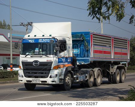 Trailer Dump Truck Of Piboon Concrete.
