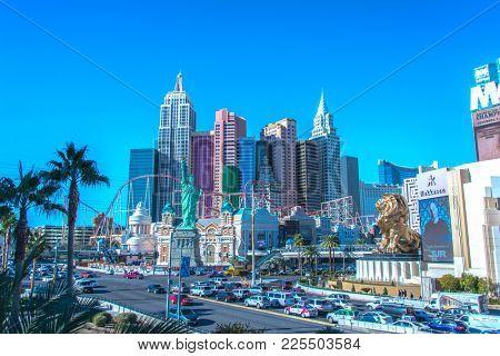 Las Vegas - DECEMBER 12, 2013: Famous Las Vegas Casinos on Decem