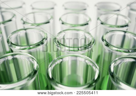 3d Illustration Flask Close-up, Laboratory Equipment. Chemical For Medecine. Laboratory Research. Co