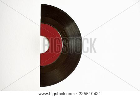 Template Of Vinyl Cover On White Background