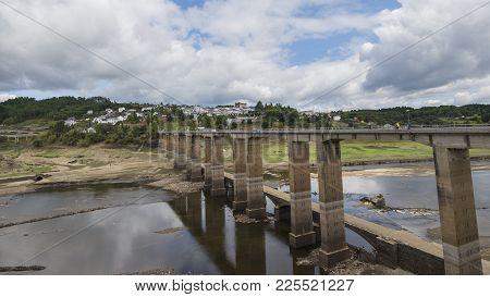 Portomarin, Spain / Portomarin, 16/09/2017: Portomarín Is A Municipality In The Spanish Province Of