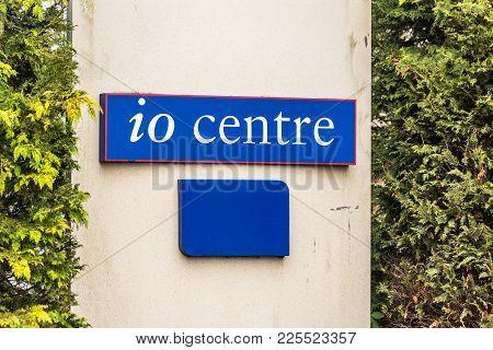 Northampton Uk January 11 2018: Io Centre Logo Sign Post.