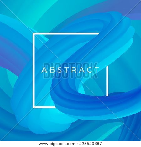Abstract Squeeze Wave. Colorful Liquid Form. 3d Dynamic Shape Background. Vector Illustration