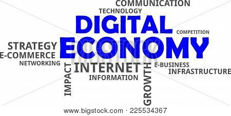 A Word Cloud Of Digital Economy Related Items