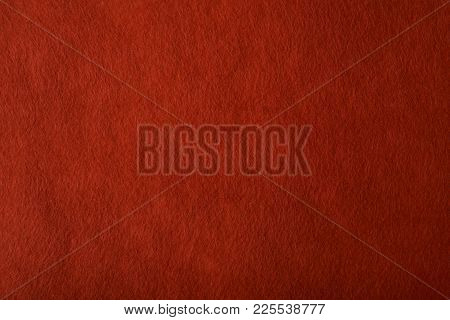 Fragment Of The Surface Of Fibrous Synthetic Non-woven Material Of Red Color. Background, Texture
