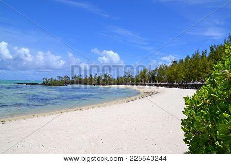 Beach On Ile Aux Cerf, An Island Near Mauritius