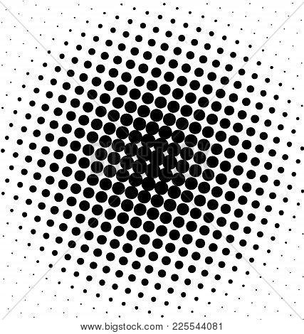 Black Halftone Dots Marketing Vector Shape Background Or Brush.