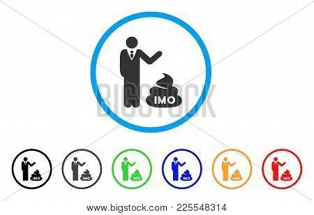 Businessman Show Imo Shit Icon. Vector Illustration Style Is A Flat Iconic Businessman Show Imo Shit