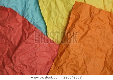 Abstract Brown Recycle Crumpled Paper For Background : Crease Of Brown Paper Textures Backgrounds Fo
