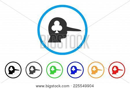 Gambling Jerk Icon. Vector Illustration Style Is A Flat Iconic Gambling Jerk Black Symbol With Gray,
