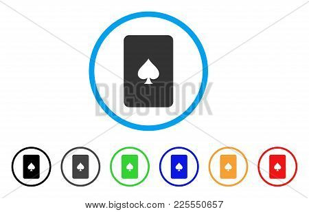 Peaks Playing Card Icon. Vector Illustration Style Is A Flat Iconic Peaks Playing Card Black Symbol