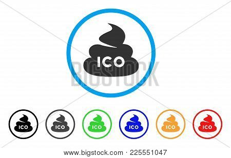 Ico Shit Icon. Vector Illustration Style Is A Flat Iconic Ico Shit Black Symbol With Gray, Yellow, G