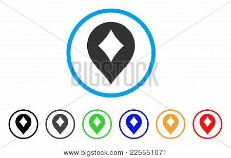 Diamonds Casino Marker Icon. Vector Illustration Style Is A Flat Iconic Diamonds Casino Marker Black