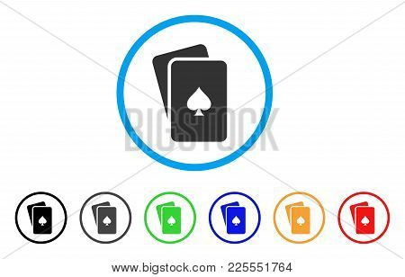 Peaks Playing Cards Icon. Vector Illustration Style Is A Flat Iconic Peaks Playing Cards Black Symbo