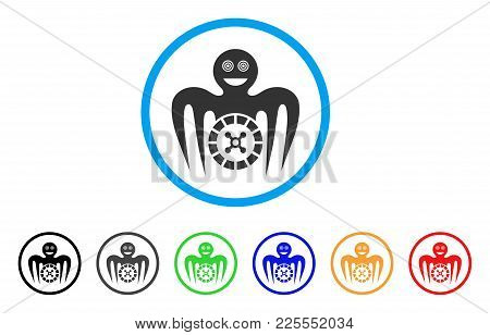 Roulette Mad Monster Icon. Vector Illustration Style Is A Flat Iconic Roulette Mad Monster Black Sym
