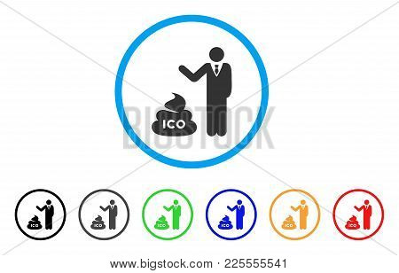 Businessman Show Ico Shit Icon. Vector Illustration Style Is A Flat Iconic Businessman Show Ico Shit