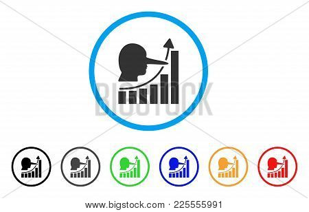 Lier Hyip Chart Icon. Vector Illustration Style Is A Flat Iconic Lier Hyip Chart Black Symbol With G