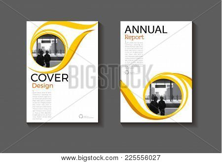 Layout Circle Yellow Abstract And Green Background Modern Cover Design Modern Book Cover Brochure Co