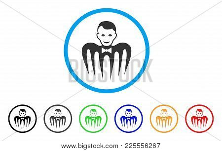 Croupier Monster Icon. Vector Illustration Style Is A Flat Iconic Croupier Monster Black Symbol With