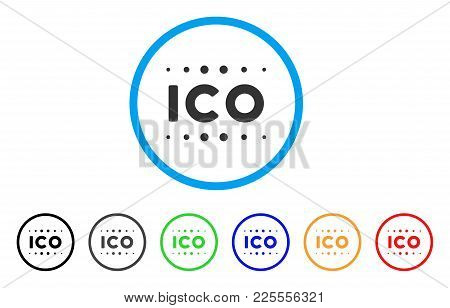 Ico Caption Icon. Vector Illustration Style Is A Flat Iconic Ico Caption Black Symbol With Gray, Yel