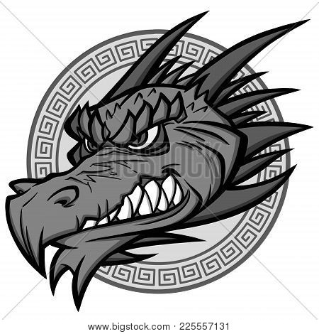 Dragon Mascot Illustration - A Vector Cartoon Illustration Of A Dragon Mascot.