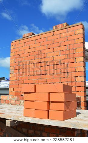 Lay Bricks Like A Bricklayer Concept With Copy Space.
